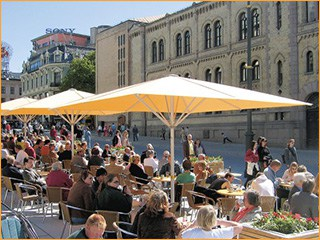 Sonnenschirme für Cafés