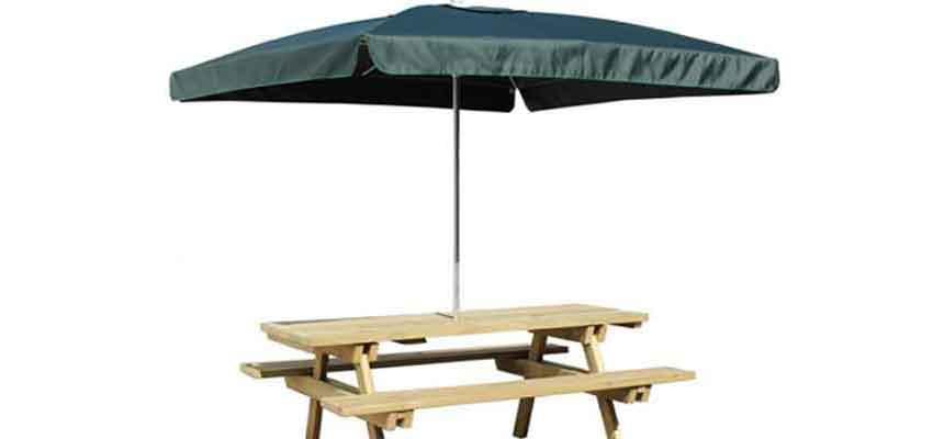 Eine pfiffige Alternative: Tisch-Sonnenschirme