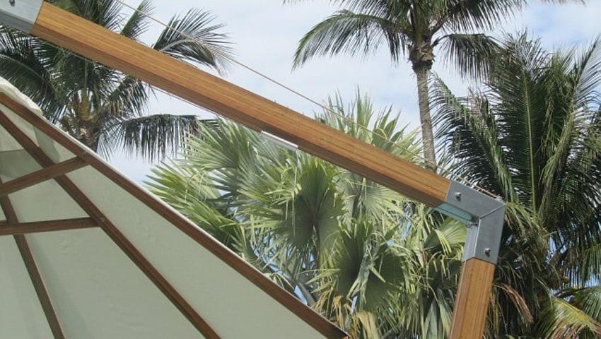 Der Bambrella® Sidewind – konzipiert für den gewerblichen und privaten High-End Bereich
