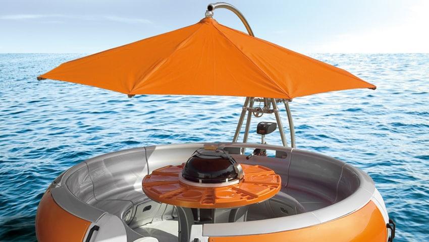 ein ampelschirm auf hoher see mit dem bbq donut sonnenschirm blog von sunliner. Black Bedroom Furniture Sets. Home Design Ideas