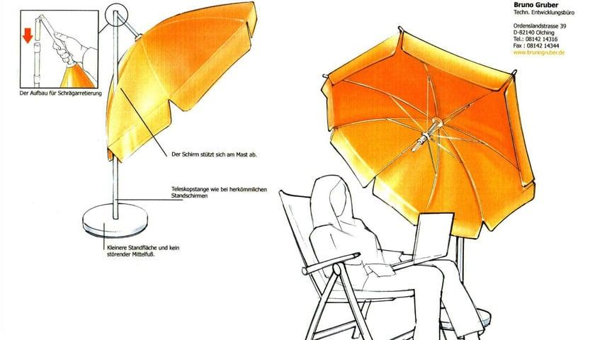bruno gruber hauptberuflicher erfinder sonnenschirm blog von sunliner. Black Bedroom Furniture Sets. Home Design Ideas