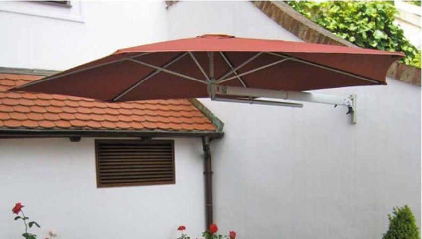 vor und nachteile der wandmontage von sonnenschirmen sonnenschirm blog von sunliner. Black Bedroom Furniture Sets. Home Design Ideas