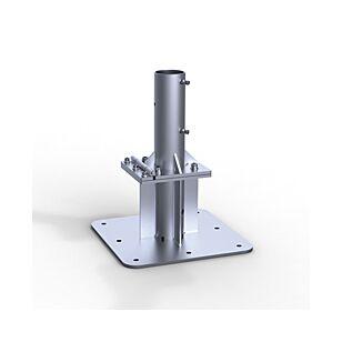 May Ankerplatte zum Aufdübeln mit Stellscharnier und Ankerhülsen Oberteil AZ120