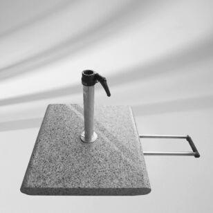 Glatz Granitsockel Z 55kg, mit Rollen und ausziehbaren Handgriff