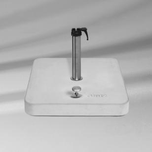 Glatz Rollensockel aus Gussbeton (ohne Standrohr)