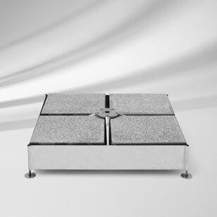 Betonplatten sind nicht im Lieferumfang vorhanden.