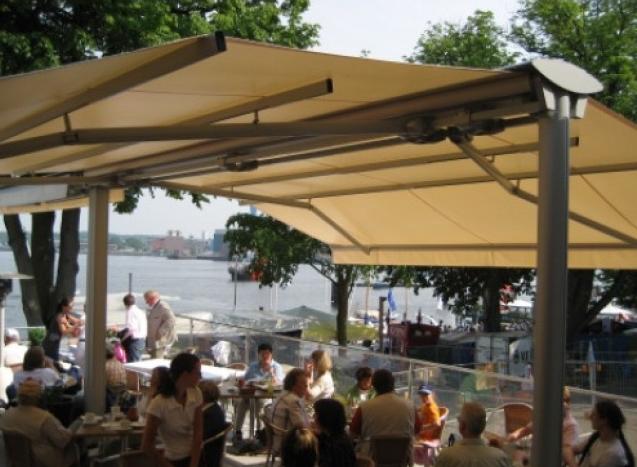 Strandmarkise im Restaurant
