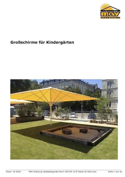 May Sonnenschirme für Kinderspielplätze